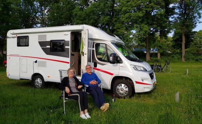 Rinus en Hinke op campertraining