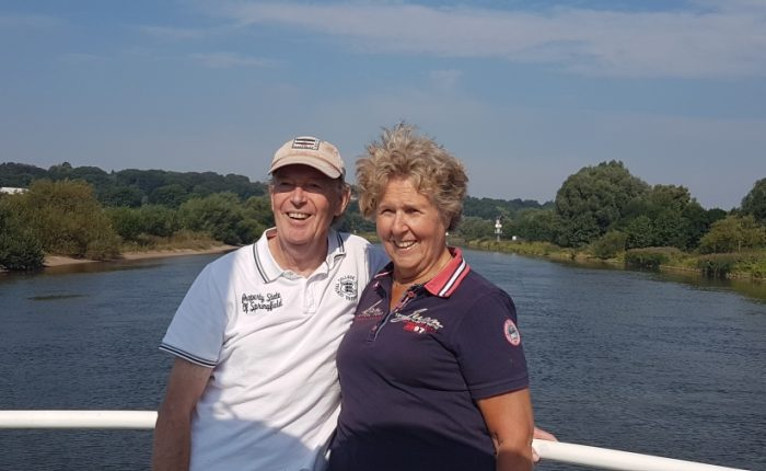 Tom en Olga op campertraining