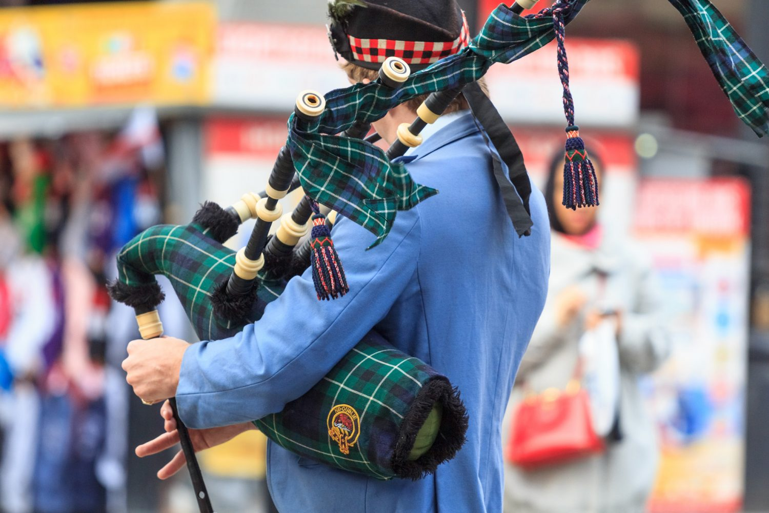 Scottish piper upper part of the body