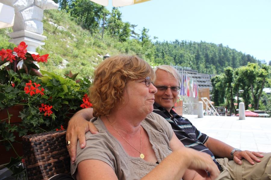 Michiel en Lia in Kroatie