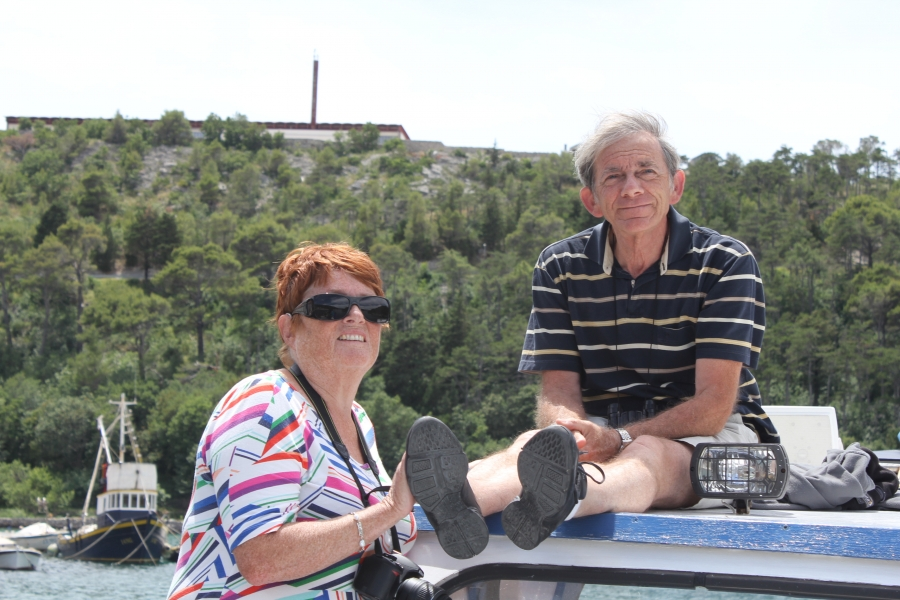 Nico en Gerda in Kroatie