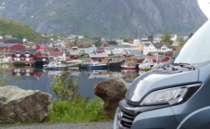 Joke en Wim op de Noordkaap