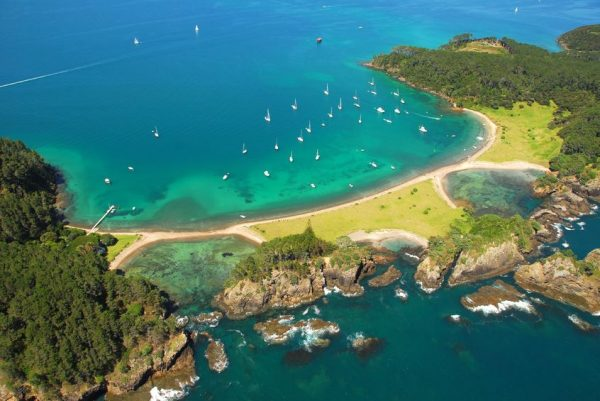 Roberton island - bay of islands, new Zealand - aerial