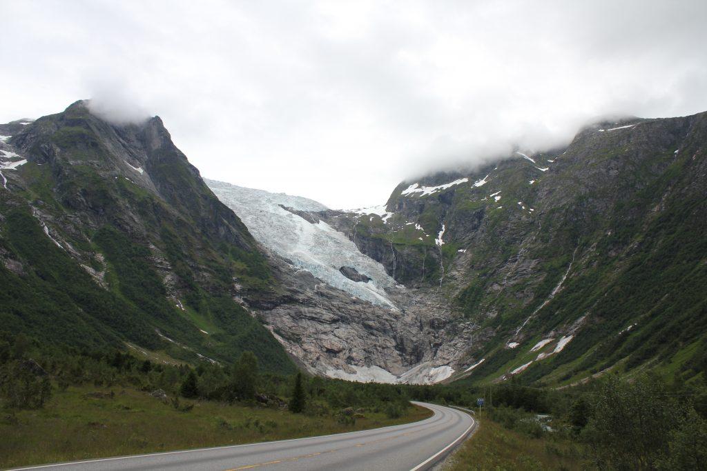 Camperreis Noorwegen Bøyabreen gletsjer