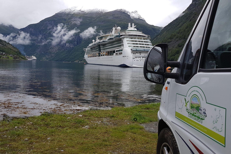 Camperreis Noorwegen - uitzicht op fjord