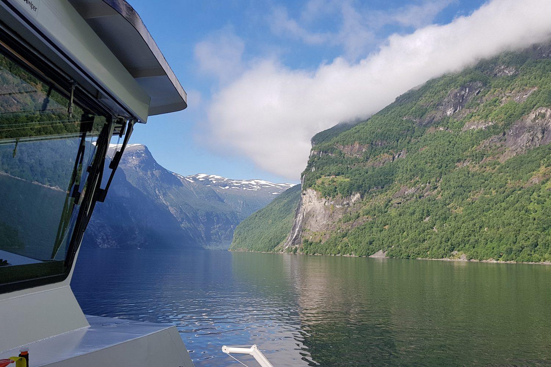 Camperreis Noorwegen -boottocht Geirangerfjord