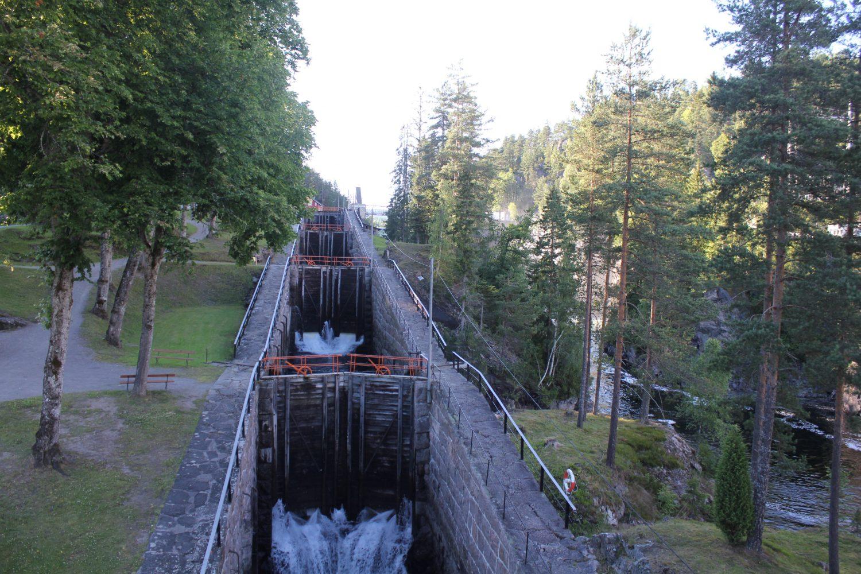 Camperreis Noorwegen - sluis Skien Telemark kanaal