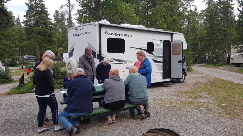 Routebespreking camper groepsreis Canada