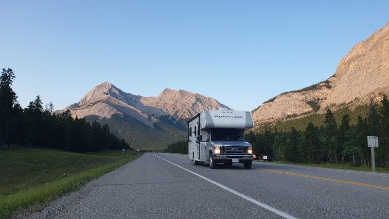 Met de camper dwars door de Canadese Rocky Mountains