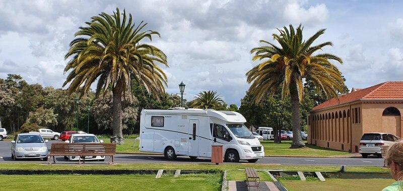 Parkeren met de camper in Rotorua