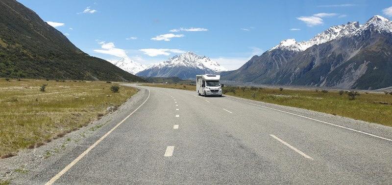 Panoramisch uitzicht op Mount Cook